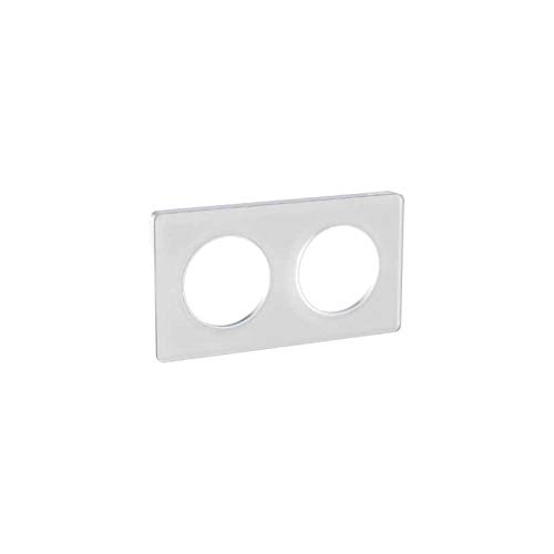 Odace Touch, plaque Translucide Blanc 2 postes horiz./vert. entraxe 71mm