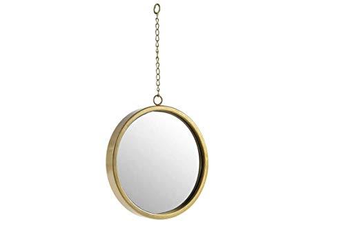 GICOS IMPORT EXPORT SRL Specchio Tondo con Catena Colore Oro 25 * 3 * 47 cm da Parete AIU-780356