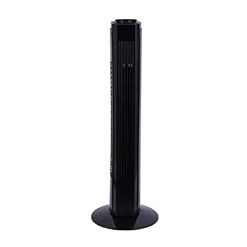 70 ° Ventilador de la torre oscilante de 32 pulgadas para el hogar y la oficina, 7,5 horas Temporizador, 3 velocidades Ventilador Oscilating Black 82cm Control remoto inteligente Ventilador de piso si