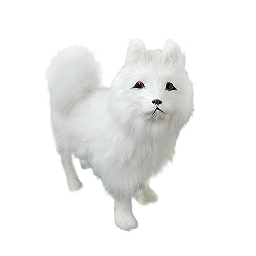 Perro Samoyedo Realista, Decoración del Coche Adornos para Perros Alta Emulación Artesanías Creativas para Perros Regalo para Amantes de los Animales,7x7inch