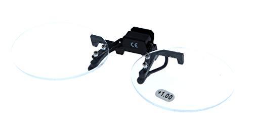 Opsteek/gordijn/clip - voorzetbril/voorzetloep - draaibaar met vergroting - verschillende dikte/maten