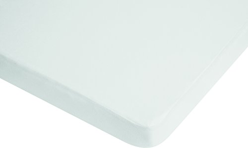 Playshoes 770321-1 Jersey hoeslaken kinderbed, waterdicht en ademend, OEKO-TEX Standard 100, 70 x 140 cm, wit