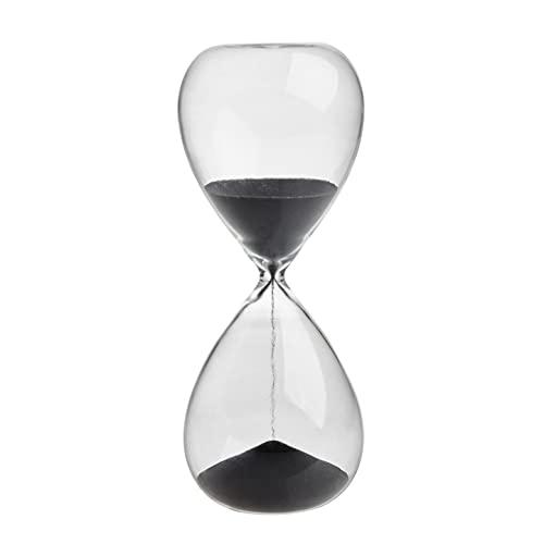 TFA Dostmann Reloj de Arena analógico 18.6009.10.90, 15 Minutos, Objeto de diseño, Temporizador, de Cristal, Color Antracita, (L) 73 x (B) 73 x (H) 190 mm