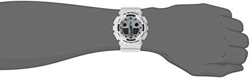 Casio Men's, G-Shock Quartz Sport Watch with Resin Strap, White, 29.4 (Model: GA-100A-7ACU) WeeklyReviewer
