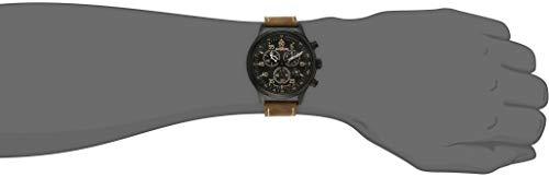 Timex - Homme - T49905 - Expédition - Quartz Analogique - Marron - Marron - Cuir
