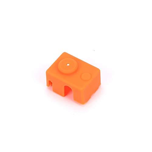 XIAOMINDIAN Updating PT100 Block Silicone Sock Kit Orange For DIY V6 Hotend Prusa i3 MK3 Ultimaker 3D Printer Heated Block Printer Parts (Size : 2PCS)