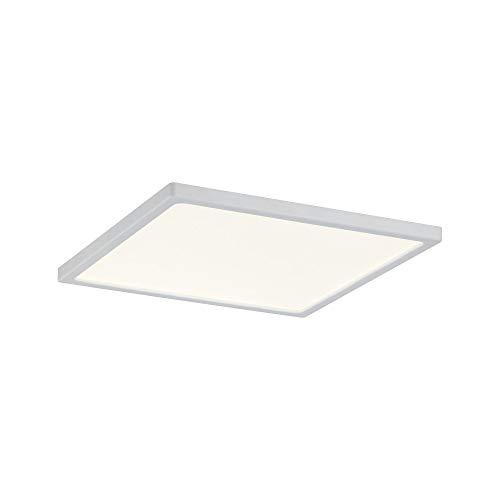 Paulmann 92938 LED Panel Areo eckig incl. 1x8 Watt IP44 dimmbar Deckenlampe Weiß matt Deckenleuchte Kunststoff Wohnzimmerlampe 3000 K, 120 x 120 mm