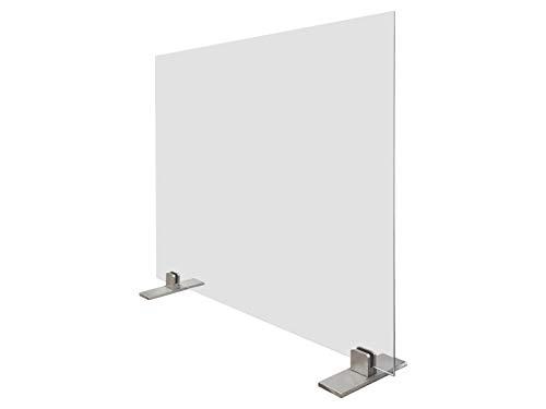 Nielsen Design – Virenschutz, Hustenschutz, Niesschutz, Thekenaufsteller aus Glas - 90x65 cm