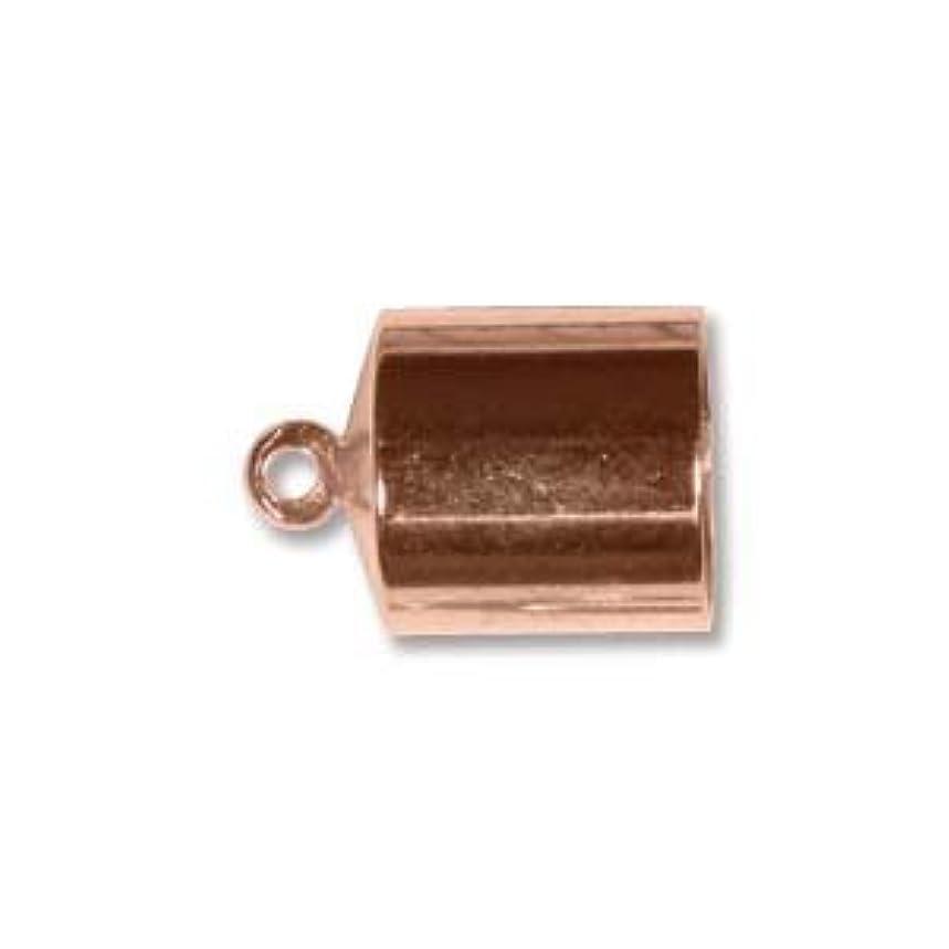 Copper Plate Barrel End Cap 8mm (12)