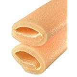 CHIROPODY TOE FOAM / TUBULAR FOAM / CORN AND BUNION PROTECTORS 1 x 25CM LENGTH WITH OVERLAP SIZE CX 21MM -