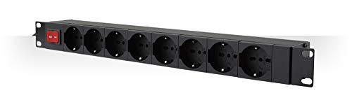 Intellinet 927949 Multipresa per Rack 19'' 8 posti con Interruttore 1U
