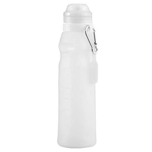 Botella Silicona,600ml Botella Agua,Botella Plegable,Gran Capacidad,con Correa PortáTil y Anillo de Metal,Se Puede Colgar O PortáTil, PortáTil Al Aire Libre