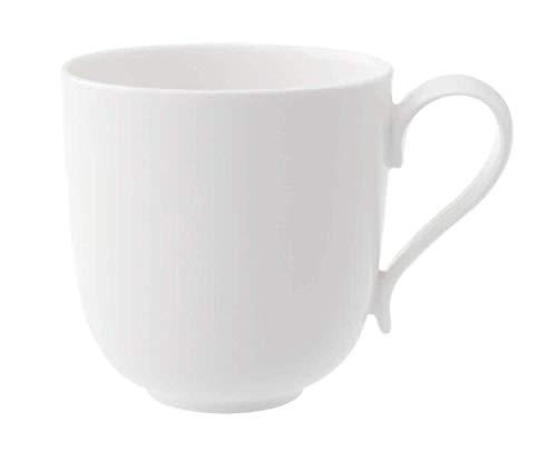 Villeroy & Boch New Cottage Basic Kaffeebecher, 350 ml, Höhe: 9 cm, Premium Porzellan, Weiß