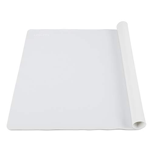 24 X 20inch X-Large Reusable Silicone Table Mat Child Kids Dinner Placemat Desk Countertop Waterproof Protector Heat Insulation Kitchen Pastry Rolling Dough Pad Tool (Grey)