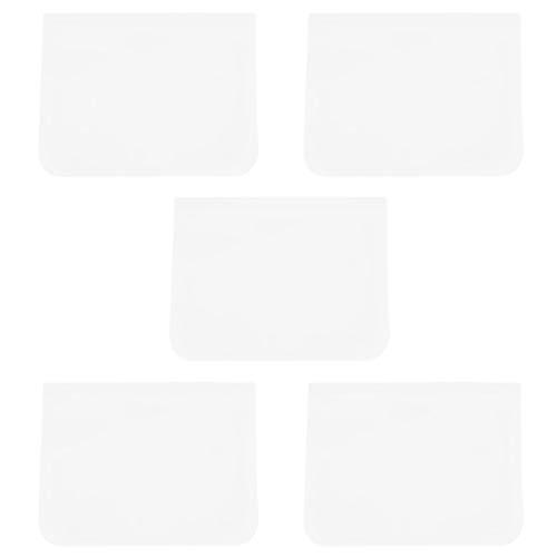 Emoshayoga Bolsa hermética Ziplock Bolsa de Almacenamiento de Alimentos Congelador a Prueba de Fugas Transparente Ambiental para Verduras para Cocina(Medium)