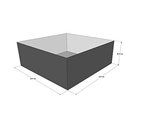 Gartenteich Hochteich Teich Einsatz 117x117 cm