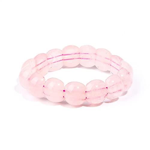 Ethnic Style Handmade Weave Rose Pink Quartz Beads Elastic Bracelet Green Aventruine Geometric Jewelry