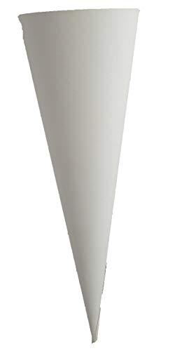 Heyda 204870035 Schultüten-Rohlinge Geschwistertüte(Höhe 35 cm, Durchmesser 11 cm, Karton, 380g/m²) weiß