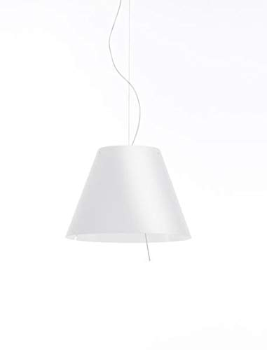 Luceplan Lampada Sospensione Grande Costanza Dimmer Sensoriale Bianco Ø70 H 100-475 cm