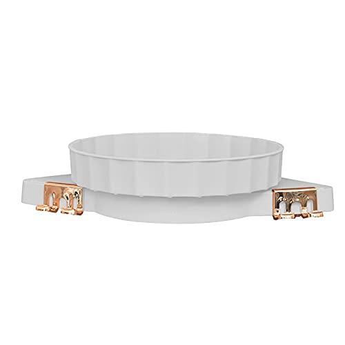 TGUS - Estante de esquina organizador de pared, soporte de almacenamiento de cocina, cuarto de baño, sin perforación, estante triangular giratorio 360 grados (blanco)