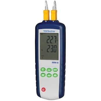 Traceable 2-Input Today's only Data Directly managed store Logging Thermometer T Thermocouple Probe