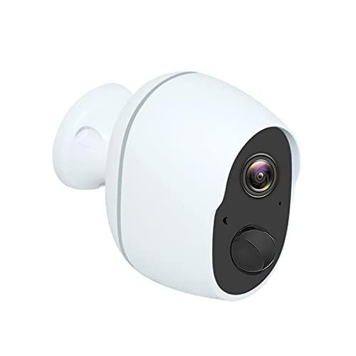HNQH Cámara de seguridad inalámbrica al aire libre – Cámara IP WiFi 1080P con batería recargable, ángulos de 130°, detección de movimiento PIR de 10 metros.
