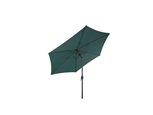 LINDER EXCLUSIV Sonnenschirm Ø 3m mit Knick knickbar mit Kurbel Schirm Gartenschirm 4 Farben (Grün)