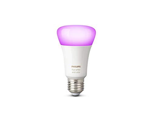 Philips Hue White and Color Ambiance Lampadina LED, E27, 9.5 W, Controllabile via App