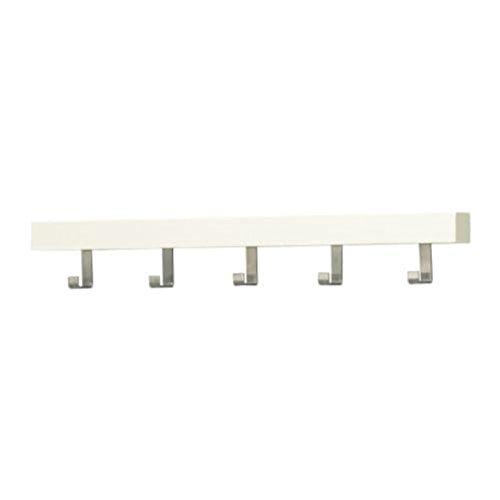 Ikea Tjusig 702.426.56 - Perchero de pared con pomos, color blanco