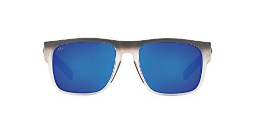 Costa Del Mar Men s Spearo Square Sunglasses, Ocearch Matte Fog Blue Mirrored Polarized 580G, 56 mm