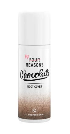 Four Reasons Root Cover Spray - Chocolate - 125ml - Root Regrowth Coloured Hair Spray for Brown and Grey Hair- VEGAN