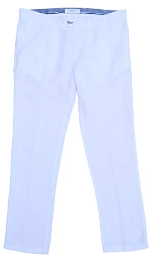 BRAX Hose Evans Leinen Summer Linen Regular Fit Weiß (27)