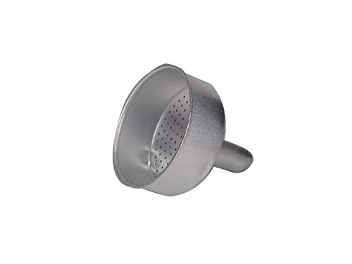Sanfor Respuesto de Embudo Cafetera Italiana 3 Tazas | Aluminio | Repuesto de Acero inoxidable | Diámetro 58 mm