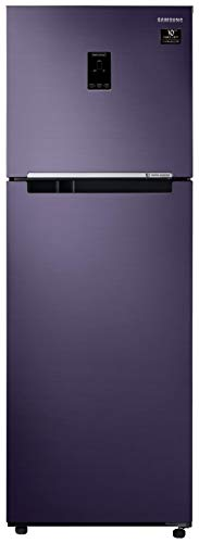 Samsung 345 L 3 Star Inverter Frost-Free Double Door Refrigerator (RT37T4533UT/HL, Pebble Blue, Convertible)