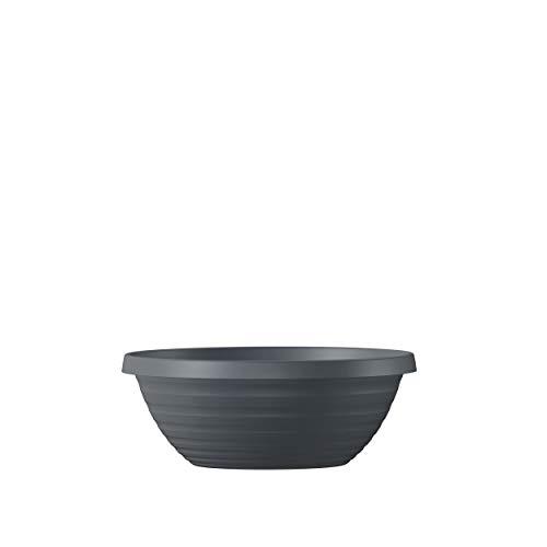 Scheurich Plantenbak 'Country Star', grijs metallic, kunststof, brede rand D 29 x H 11 cm