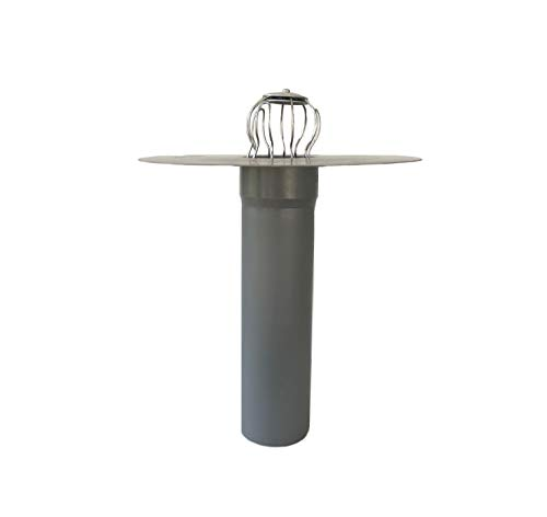 Flachdachablauf DN 70 inkl. Laubfang, Bitumen-/PVC-Flansch, Dachgully, Einlauf, Dachentwässerung, DN 75 (PVC, 290 mm)