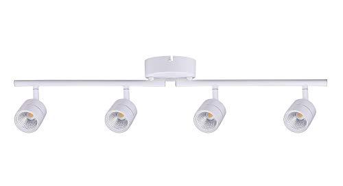 Cloudy Bay 30W 4-Head LED Dimmable Track Light, ETL Listed, Ceiling Lighting,Narrow Flood Light, 2400lm 3000K CRI90, Flexibly Rotatable Light Head, for Accent Lighting, Decorative Lighting