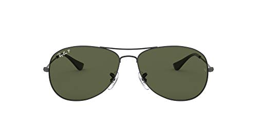 Ray-Ban Cockpit RB3362, Gafas de sol, Unisex, Gris (Gunmetal/Crystal Green), 59 mm