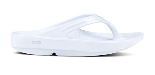 OOFOS - Women's OOlala - Post Exercise Active Sport Recovery Thong Sandal - White - W9