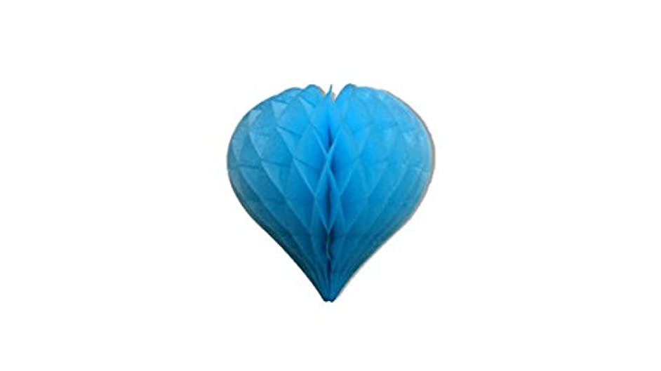 Matissa Pack of 3 Valentines Decoration Heart Shaped Paper Honeycomb Birthday Party Wedding Available in 11 Colours 3 Sizes (All Blue, 8