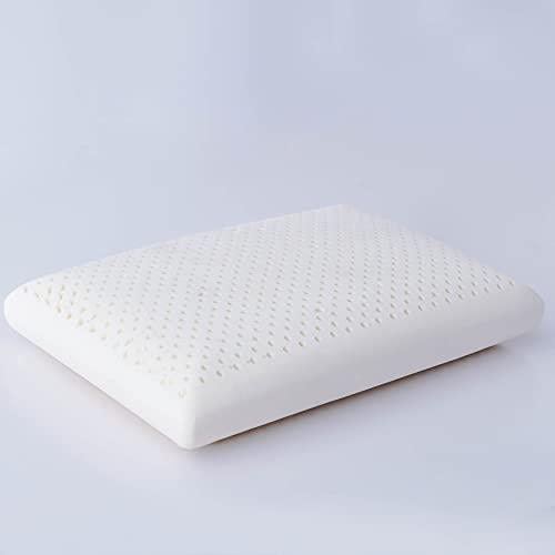shenghua Almohada de látex natural 100 % puro, para dormir, ergonómica, cuello cervical suave, protege el cojín de masaje para un sueño profundo (color: 005)