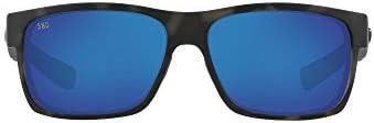 Costa Del Mar Men's Polarized Half Moon Rectangular Sunglasses