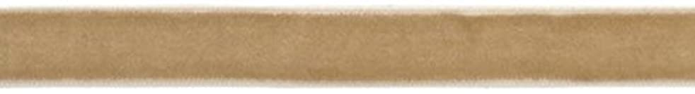 American Crafts 1/2-Inch Velvet Ribbon, 3-Yard Spool, Caramel