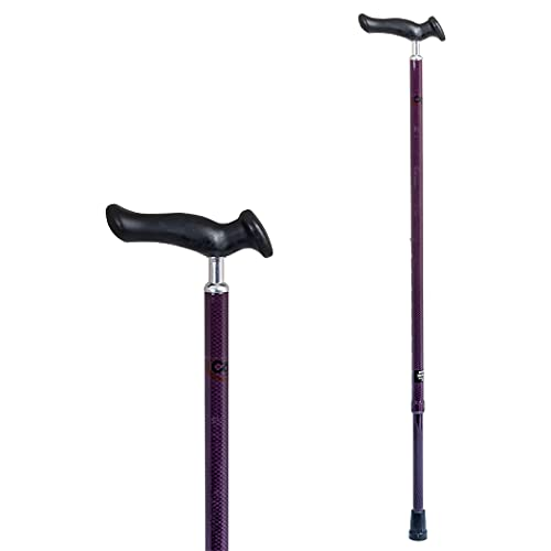 Carex Health Brands Comfort Walking Cane with an Ergonomic Extra Comfortable Grip, Berry