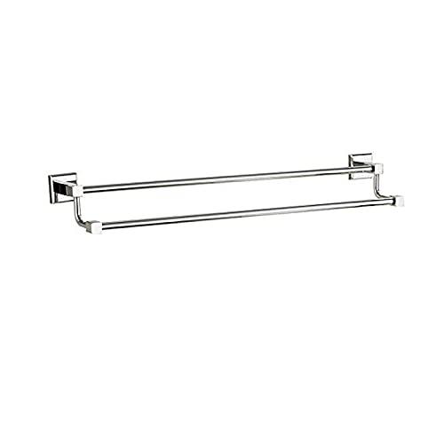LSLS Toallero de doble poste para baño, soporte de toalla de mano, barra de toalla simplicidad, accesorios de baño sólidos montados en la pared, accesorios de baño colgador de torre