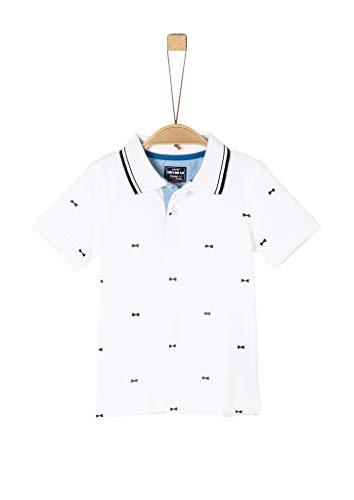 s.Oliver Junior Jungen 404.12.002.13.130.1278986 Polohemd, White AOP, 128/134/REG