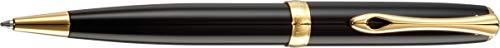 DIPLOMAT - Kugelschreiber Excellence A2 Lack schwarz vergoldet easyFlow - Schick und elegant - Lange Lebensdauer - Schwarz