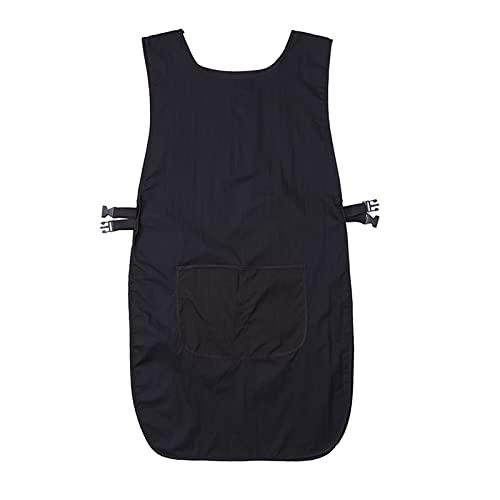 FIJTPSAN Peluquería Ocupación Delantal Traje de Vestir para el Esteticista Trabajo Herramientas de Cocina para el hogar (Color : Black)
