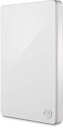 Seagate Backup Plus Slim 1 TB tragbare externe Festplatte (6,3 cm (2,5 Zoll) USB 3.0, PC und Mac) weiss