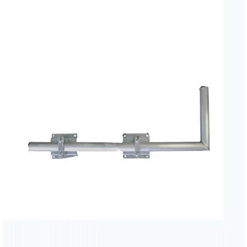 PremiumX 100cm SAT Halterung Wandausleger aus Stahl verzinkt Rohr Satellitenschüssel Mast Satellitenantenne Wandhalter